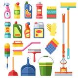 议院清洁工具 库存例证