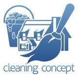 议院清洁概念 库存例证