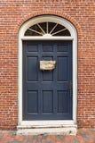 议院的前门在波兹毛斯NH 免版税库存照片