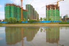 议院的被构筑的新建工程 免版税图库摄影