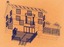 议院设计-减速火箭的建筑师图纸 皇族释放例证
