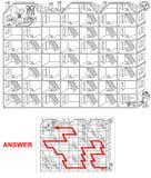 议院迷宫-孩子的迷宫 库存例证