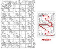 议院迷宫-孩子的迷宫 向量例证