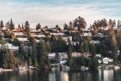 议院马掌海湾在西温哥华, BC,加拿大 免版税图库摄影