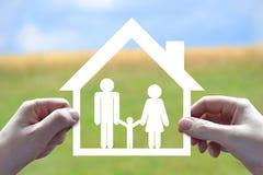 议院,家庭标志 免版税库存图片