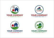 议院,房地产,风景,土地,商标,设计 免版税图库摄影