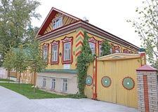 议院Isanbaevs,纪念碑住宅建筑学 免版税库存图片