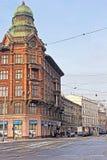 议院Orenstein -波兰的疆土的大厦的名字位于Kracow 免版税图库摄影