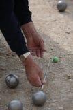议(Petanque)比赛 免版税库存图片
