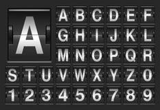 记分牌字母表 免版税库存照片