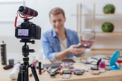 记录一个普遍的博克的所有片刻现代照相机 免版税图库摄影