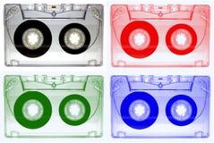 记录声带的卡型盒式录音机 免版税库存图片
