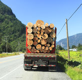 记录的卡车 免版税库存照片