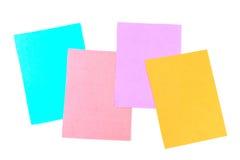 记录的色的板料 免版税库存照片