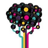 记录结构树乙烯基 向量例证