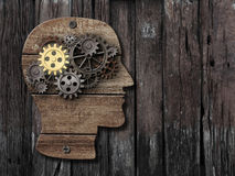 记录脑部活动,心理学,记忆概念 免版税库存照片