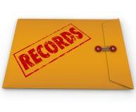 记录资料黄色机要文件 库存照片