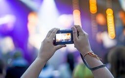 记录音乐会 免版税图库摄影