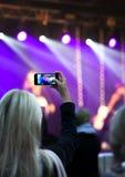 记录音乐会 库存照片