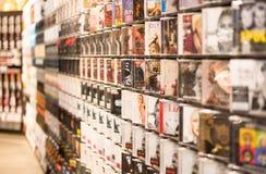记录音乐存储 免版税库存照片