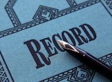 记录 免版税库存图片