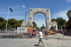 记忆克赖斯特切奇-新西兰桥梁  库存图片