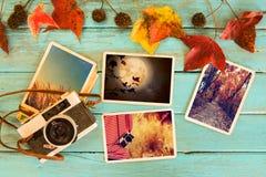 记忆和乡情照片在秋天 库存照片
