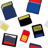记忆和西姆卡片的选择的例证 图库摄影