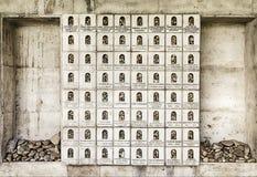 记忆墙壁  库存照片