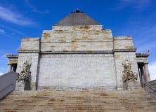 记忆墨尔本寺庙  图库摄影