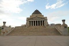 记忆寺庙在墨尔本,澳大利亚 库存图片