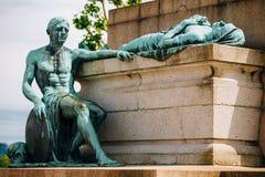 记忆或Gelle Fra,金黄夫人的纪念碑 库存照片
