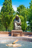 记忆纪念广场在塔什干,乌兹别克斯坦 库存图片