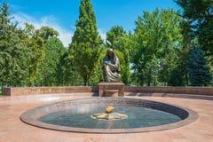 记忆纪念广场在塔什干,乌兹别克斯坦 免版税库存照片