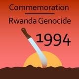 记念卢旺达种族灭绝 库存图片