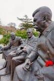 以记念雅尔塔,克里米亚的纪念碑 会议 免版税图库摄影
