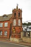 以记念风暴的教堂1899在Kuznica 波兰 图库摄影
