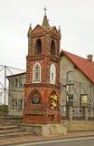 以记念风暴的教堂1899在Kuznica 波兰 免版税图库摄影