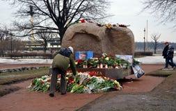 以记念鲍里斯・涅姆佐夫的行动 免版税图库摄影