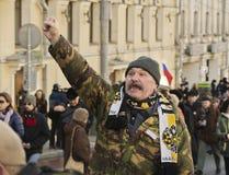 以记念鲍里斯・涅姆佐夫2016年2月27日的3月 免版税库存照片