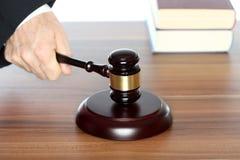 登记惊堂木法律 免版税库存照片