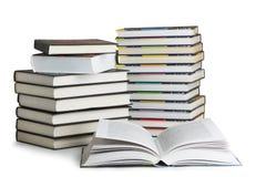 登记挺直的聚合式图书馆 库存图片