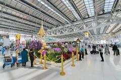 登记曼谷国际机场区域  免版税图库摄影