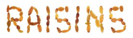 登记 在白色bac隔绝的各种各样的葡萄干的汇集 免版税库存图片