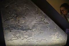 刻记寻找盘区在东方艺术博物馆在罗马意大利 免版税库存图片