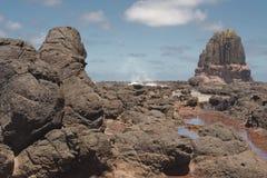 讲坛岩石和飞溅 库存照片
