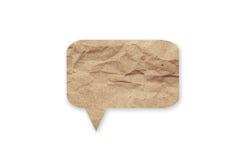 讲话在被隔绝的白色背景的泡影纸 免版税库存图片