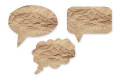 讲话在被隔绝的白色背景的泡影纸 免版税库存照片