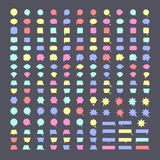 讲话泡影五颜六色的传染媒介象 库存例证
