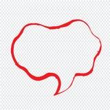 讲话泡影手拉的例证标志设计 图库摄影